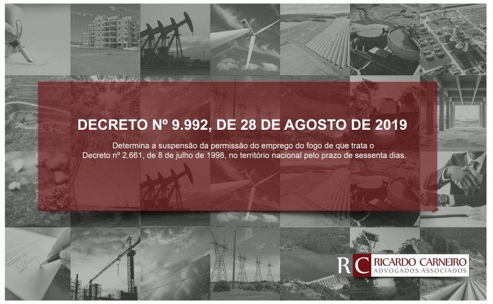 DECRETO Nº 9.992, DE 28 DE AGOSTO DE 2019