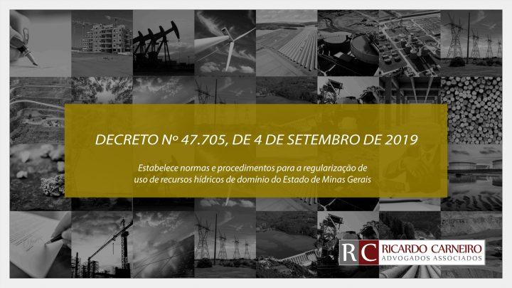 DECRETO Nº 47.705, DE 4 DE SETEMBRO DE 2019.