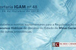 PORTARIA IGAM Nº 48, DE 04 DE OUTUBRO DE 2019.