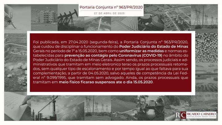 Portaria Conjunta nº 963/PR/2020