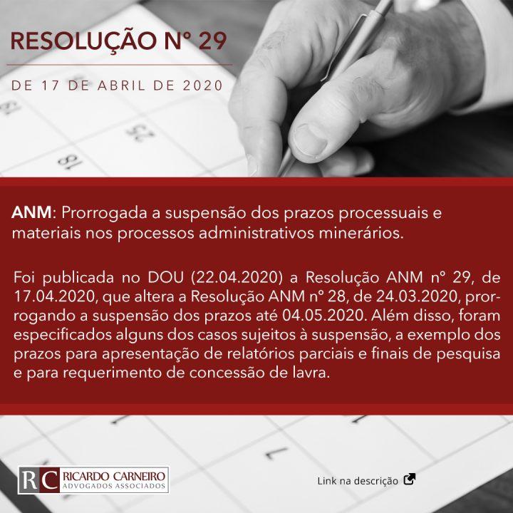 ANM: Prorrogada a suspensão dos prazos processuais e materiais nos processos administrativos minerários.